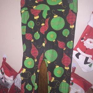 lularoe Christmas ornament leggings